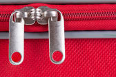 Suitcase zipper — Stock Photo