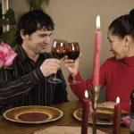 Couple having a romantic  dinner — Stock Photo #4194400