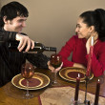 Couple having a Romantic dinner — Stock Photo #4194463