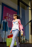 A young woman with shopping  bags — Stock Photo