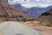 Utah rock monuments and mountains close to Moab — Stock Photo