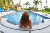 Relaxing pool — Stock Photo