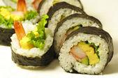 Rollos de sushi japonés — Foto de Stock