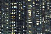 夜晚的城市背景 — 图库照片