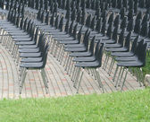 Seats in summer amfiteatris — Stock Photo