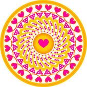 Ornament hearts — Stock Vector