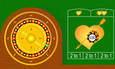 Roulette hearts — Stock Vector