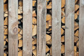 Woodched outside — Stock Photo