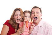 Partying family — Stock Photo