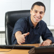 Happy young businessman ready to seal a deal — Stock Photo