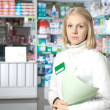 Beautiful pharmacist. — Stock Photo