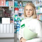 Beautiful pharmacist. — Stock Photo