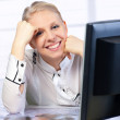 Businesswoman at the office desk — Stock Photo #5284014
