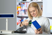 Attractive pharmacist — Stock Photo