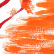 Orange paint sketch — Foto de Stock
