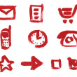Icon set. Mail, Cart, Clock, Phone, Check Box, Arrow — Stock Photo #4650740