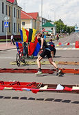 Douathlon competitions in Drogichin city , the Brest region, Be — Foto de Stock