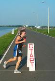 запуск этап на соревнованиях thriathlon — Стоковое фото
