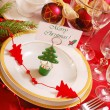 Christmas table setting — Stock Photo #4115798