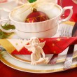 Christmas table setting — Stock Photo #4130986