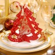 Christmas table decoration - Foto Stock
