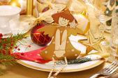 クリスマス テーブル デコレーション — ストック写真