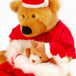 Teddy Bears As Christmas Gift — Stock Photo