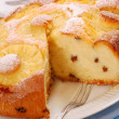 Pineapple cake with raisins — Stock Photo #4227808