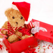 Teddy bears as christmas gift - Stock fotografie