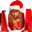 Stock Photo: Young girl at christmas time