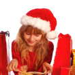 Young girl at christmas time — Stock Photo #4227930