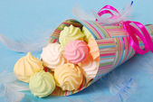 Colorful meringues — Stock Photo