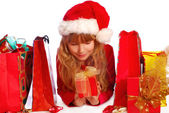 Young girl at christmas time — Stock Photo