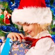 Little girl in christmas time — Stock Photo #4273384