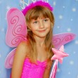 Little girl as fairy - Stock Photo