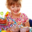 Little girl on birthday party — Stock Photo #4273687