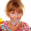 Little girl on birthday party — Stock Photo #4273692