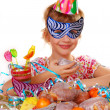 Little girl on birthday party — Stock Photo #4273756