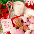 Cookies and milk for santa — Stock Photo #4273776