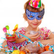 Little girl on birthday party — Stock Photo #4273788