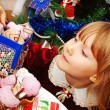 Stock Photo: Little girl in christmas time