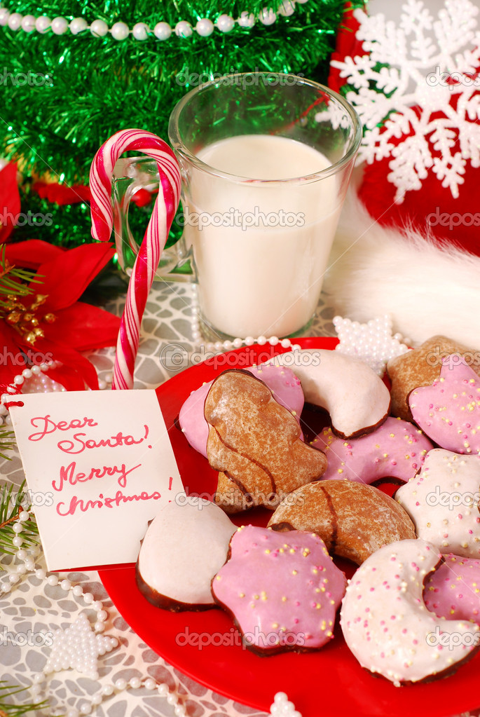 Cookies And Milk Cookies And Glass of Hot Milk