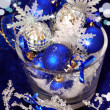 Christmas decoration in deep blue colors — Stock Photo #4288000