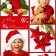 Stock Photo: Christmas collage in red