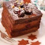 Christmas gingerbread cake — Stock Photo