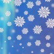 Blue background with snowflakes — Stock Photo #4424057