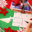 Stock Photo: Writing greeting cards for christmas