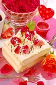 Cake for valentine`s party — Stock Photo