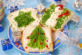 Christmas breakfast for child — Stockfoto