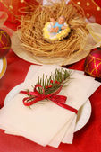 Christmas eve wafer — Стоковое фото